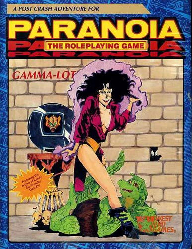 paranoia gamma lot new sealed the roleplaying game west